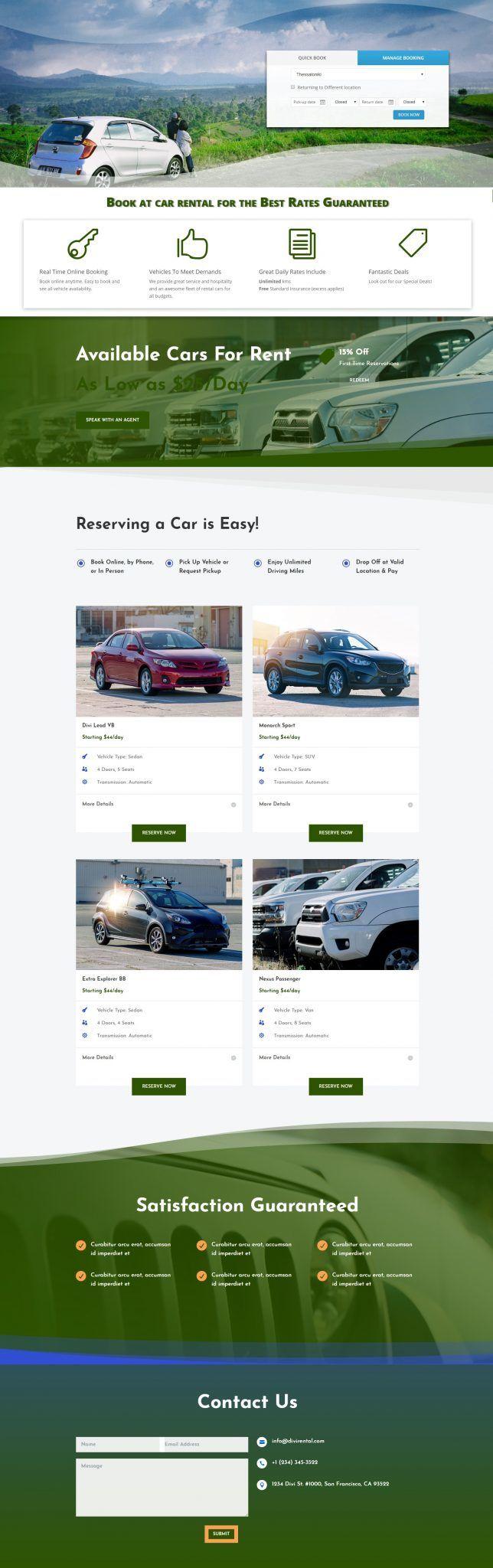 Ιστοσελίδα Car rental